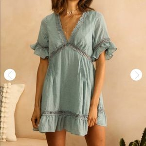 Dresses & Skirts - Linen Blue Day Dress